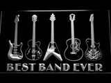 Guitars Best Band Ever LED Neon Sign - White - SafeSpecial