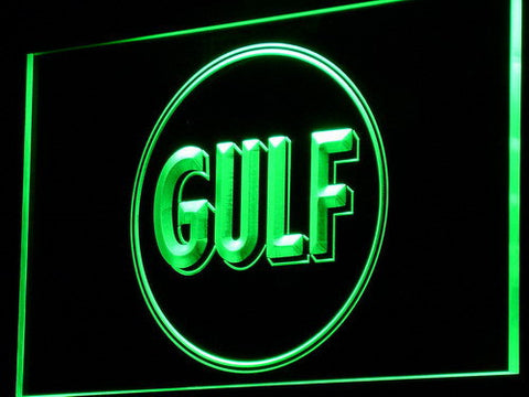Gulf Gasoline LED Neon Sign - Green - SafeSpecial