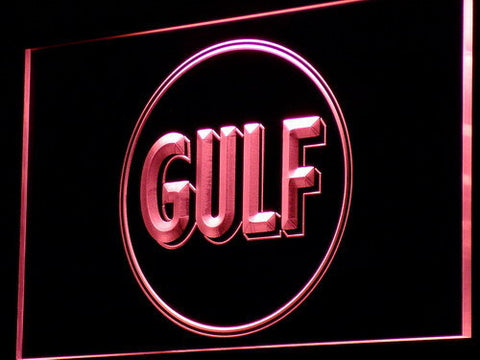 Gulf Gasoline LED Neon Sign - Red - SafeSpecial