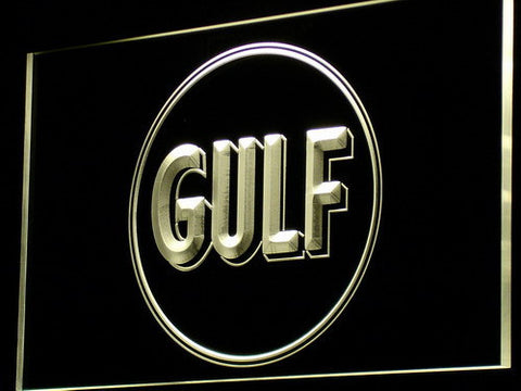 Gulf Gasoline LED Neon Sign - Yellow - SafeSpecial