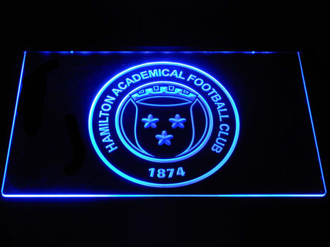 Image of Hamilton Academical F.C. LED Neon Sign - Blue - SafeSpecial