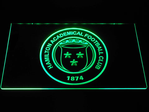 Image of Hamilton Academical F.C. LED Neon Sign - Green - SafeSpecial