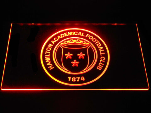 Image of Hamilton Academical F.C. LED Neon Sign - Orange - SafeSpecial
