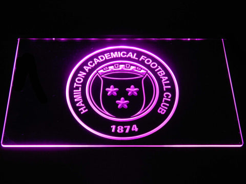 Image of Hamilton Academical F.C. LED Neon Sign - Purple - SafeSpecial