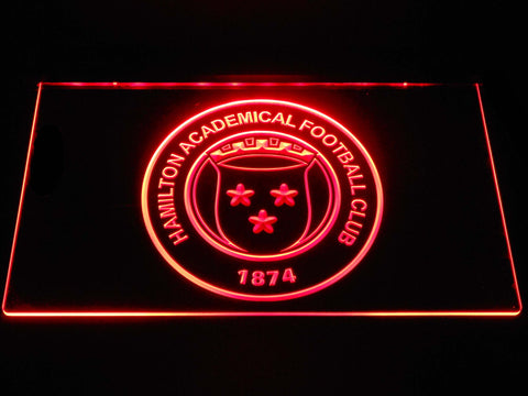 Image of Hamilton Academical F.C. LED Neon Sign - Red - SafeSpecial