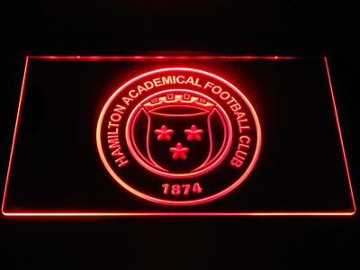 Hamilton Academical F.C. LED Neon Sign - Red - SafeSpecial