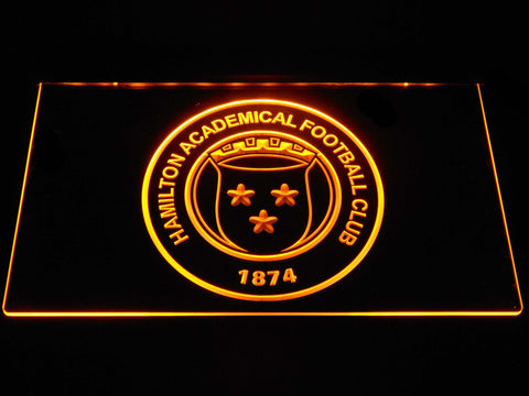 Image of Hamilton Academical F.C. LED Neon Sign - Yellow - SafeSpecial