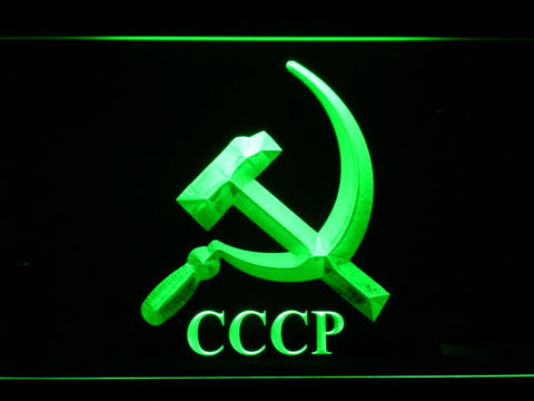 Hammer and Sickle CCCP LED Neon Sign - Green - SafeSpecial