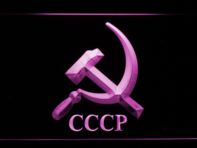 Hammer and Sickle CCCP LED Neon Sign - Purple - SafeSpecial