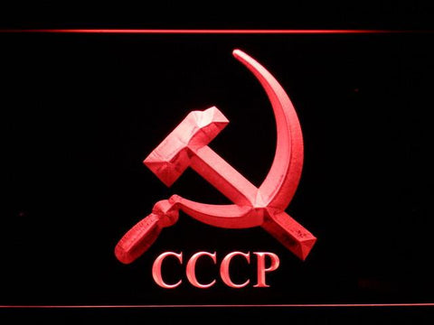 Hammer and Sickle CCCP LED Neon Sign - Red - SafeSpecial