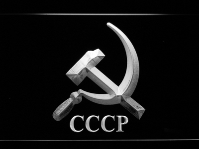 Hammer and Sickle CCCP LED Neon Sign - White - SafeSpecial