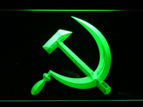 Hammer and Sickle LED Neon Sign - Green - SafeSpecial