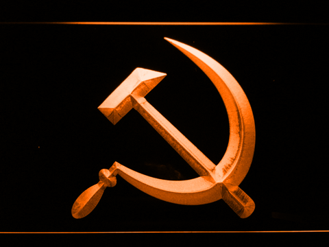 Hammer and Sickle LED Neon Sign - Orange - SafeSpecial
