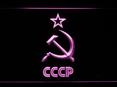 Hammer and Sickle Star CCCP LED Neon Sign - Purple - SafeSpecial