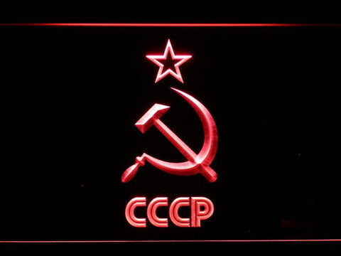 Hammer and Sickle Star CCCP LED Neon Sign - Red - SafeSpecial