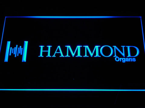 Hammond Organs LED Neon Sign - Blue - SafeSpecial