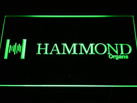 Hammond Organs LED Neon Sign - Green - SafeSpecial