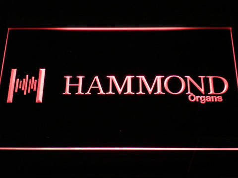 Hammond Organs LED Neon Sign - Red - SafeSpecial