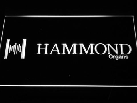 Hammond Organs LED Neon Sign - White - SafeSpecial