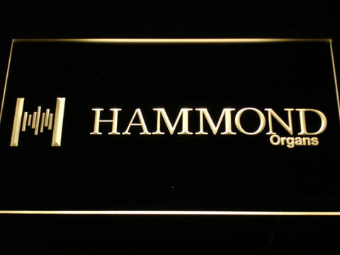 Hammond Organs LED Neon Sign - Yellow - SafeSpecial