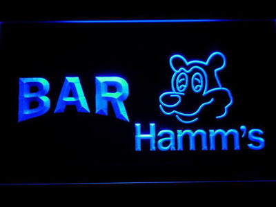 Hamm's Bar LED Neon Sign - Blue - SafeSpecial