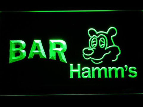 Image of Hamm's Bar LED Neon Sign - Green - SafeSpecial