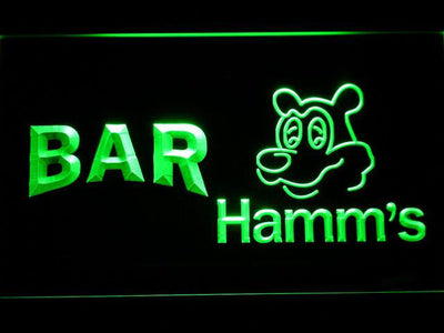 Hamm's Bar LED Neon Sign - Green - SafeSpecial