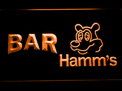 Hamm's Bar LED Neon Sign - Orange - SafeSpecial