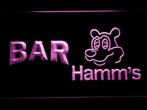 Image of Hamm's Bar LED Neon Sign - Purple - SafeSpecial
