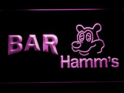 Hamm's Bar LED Neon Sign - Purple - SafeSpecial