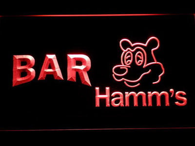 Hamm's Bar LED Neon Sign - Red - SafeSpecial