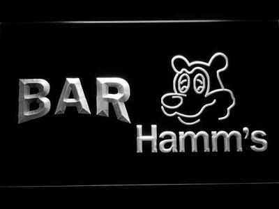 Hamm's Bar LED Neon Sign - White - SafeSpecial