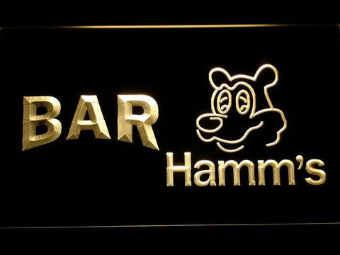 Image of Hamm's Bar LED Neon Sign - Yellow - SafeSpecial