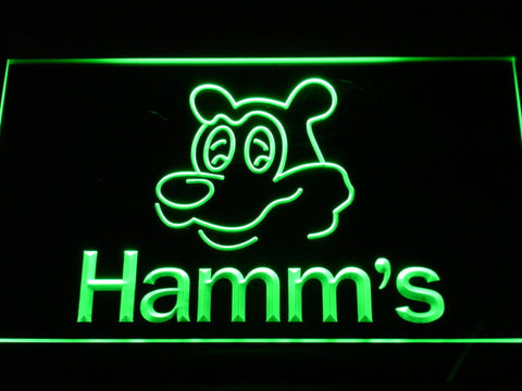 Image of Hamm's Bear LED Neon Sign - Green - SafeSpecial