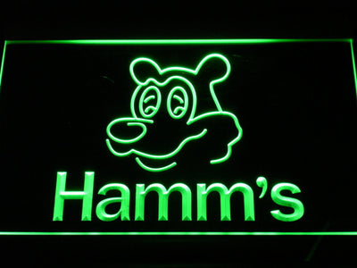 Hamm's Bear LED Neon Sign - Green - SafeSpecial