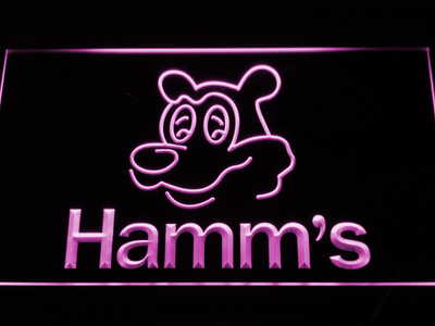 Hamm's Bear LED Neon Sign - Purple - SafeSpecial