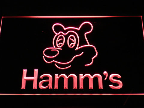 Image of Hamm's Bear LED Neon Sign - Red - SafeSpecial
