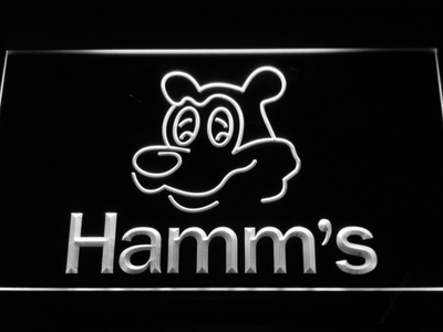 Hamm's Bear LED Neon Sign - White - SafeSpecial