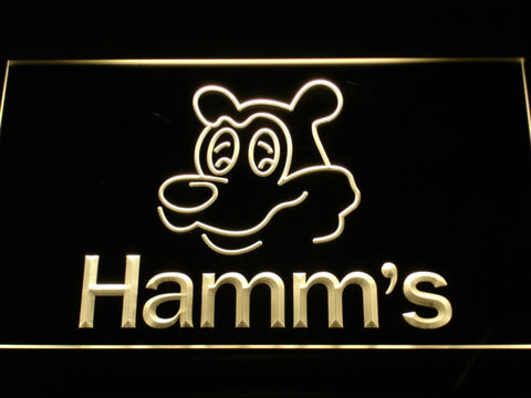 Image of Hamm's Bear LED Neon Sign - Yellow - SafeSpecial