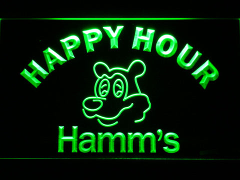Hamm's Happy Hour LED Neon Sign - Green - SafeSpecial
