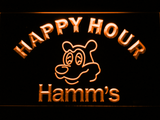 Hamm's Happy Hour LED Neon Sign - Orange - SafeSpecial