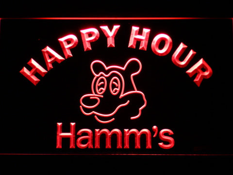 Hamm's Happy Hour LED Neon Sign - Red - SafeSpecial