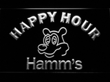 Hamm's Happy Hour LED Neon Sign - White - SafeSpecial