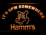 Hamm's It's 5pm Somewhere LED Neon Sign - Orange - SafeSpecial