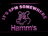 Hamm's It's 5pm Somewhere LED Neon Sign - Purple - SafeSpecial