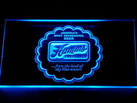 Image of Hamm's Preferred LED Neon Sign - Blue - SafeSpecial