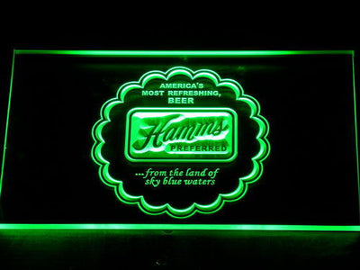 Hamm's Preferred LED Neon Sign - Green - SafeSpecial