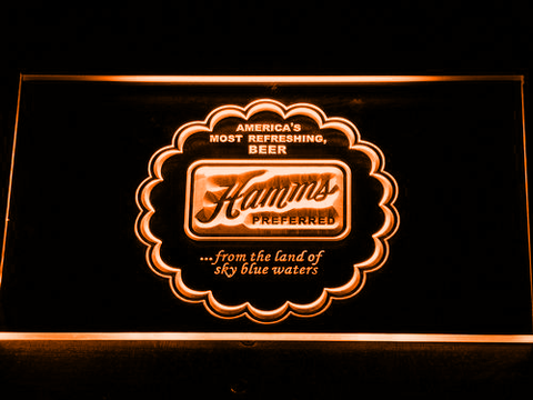 Image of Hamm's Preferred LED Neon Sign - Orange - SafeSpecial