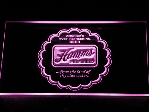 Image of Hamm's Preferred LED Neon Sign - Purple - SafeSpecial