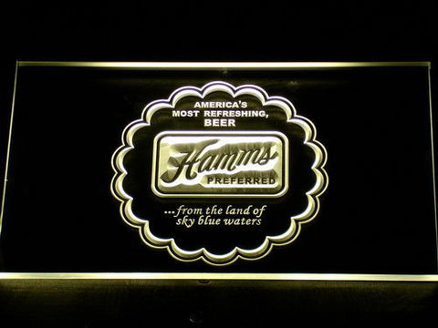 Image of Hamm's Preferred LED Neon Sign - Yellow - SafeSpecial